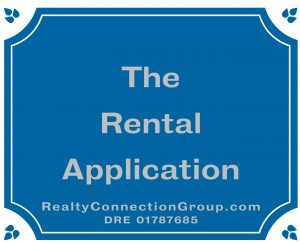 the rental application