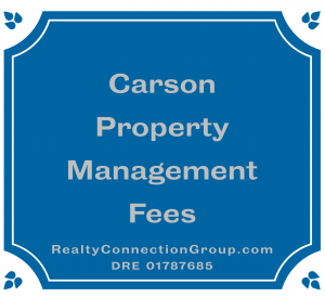 carson property management fees